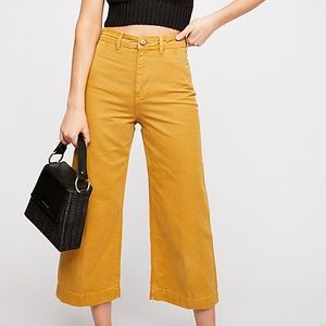 Free people patti pants in mustard